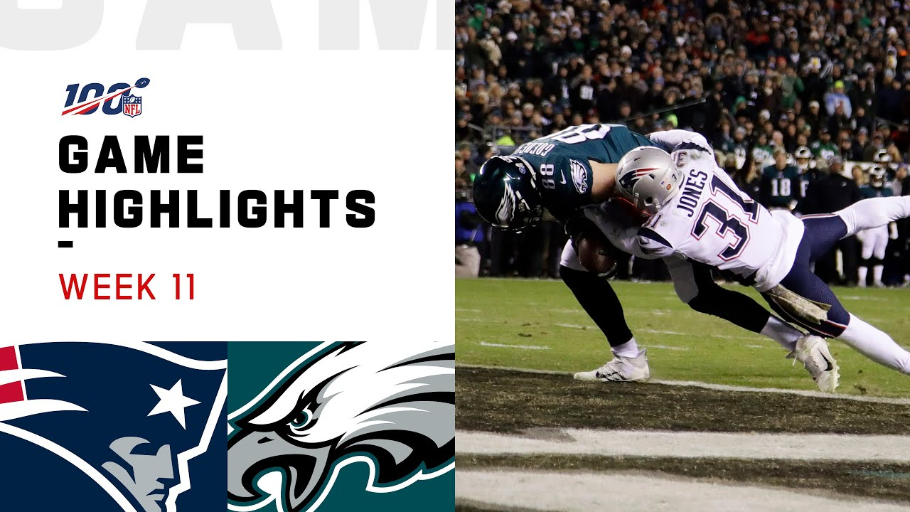 Patriots vs. Eagles Week 11 Highlights | NFL 2019\