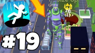 *MUST SEE* New FUTURE CITY Map & GIANT ROBOTS!! - Hole.io Gameplay Part 19