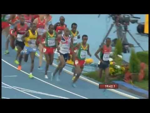 Mo Farah wins Gold in mens 10000 meter IAAF world championship in Moscow.