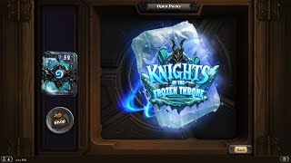 Hearthstone Knights Of The Frozen Throne Pack Opening Animation