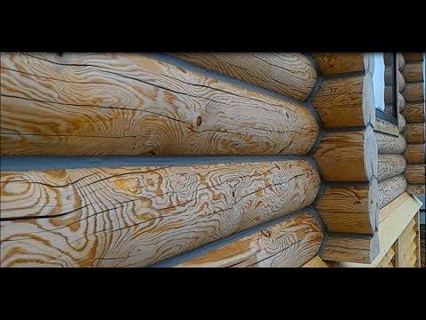 Заделка трещин в бревне и брусе герметиком. Заделка щелей герметиком Теплый ШОВ для бревна и бруса.