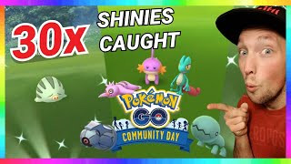 OMG! 30x SHINIES CAUGHT during DECEMBER COMMUNITY DAY EVENT in Pokemon Go!