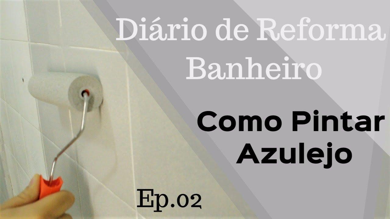 Como pintar azulejo di rio de reforma do banheiro youtube - Como pintar azulejos ...