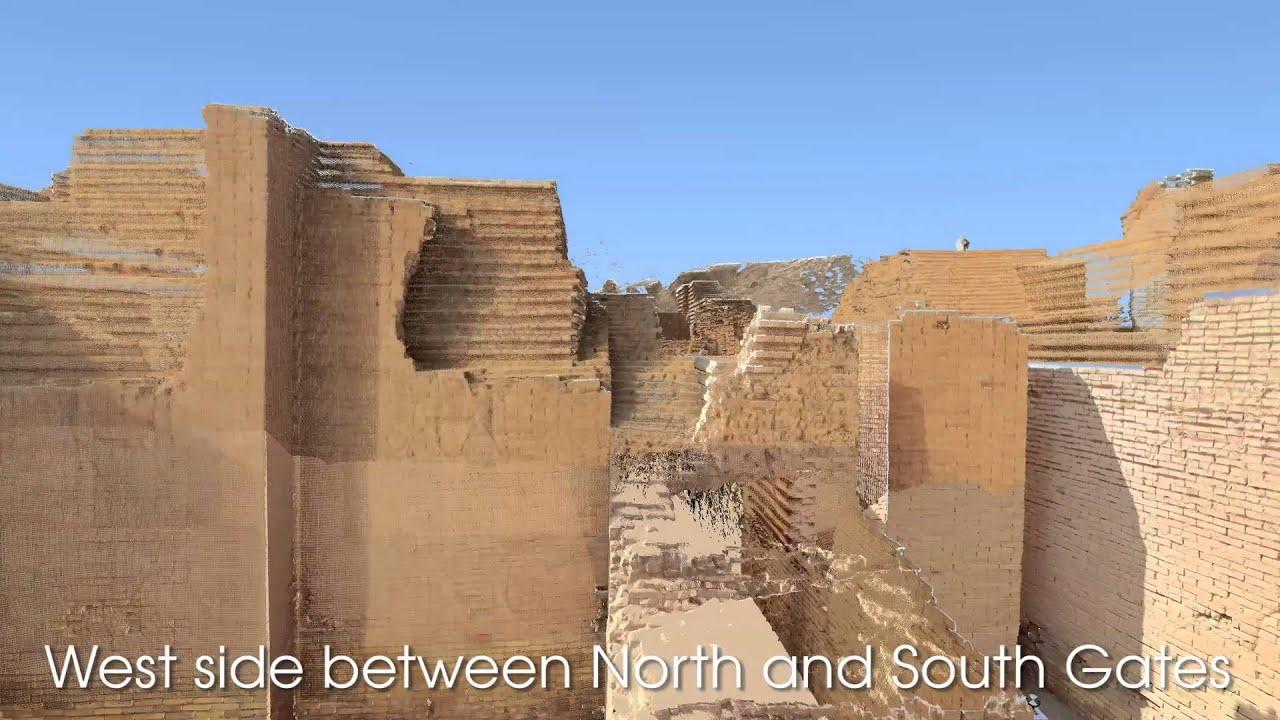 conservation science ishtar gate flythrough babylon iraq youtube