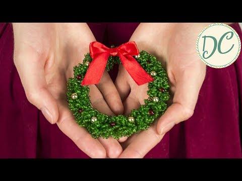 Новогоднее украшение из бисера своими руками