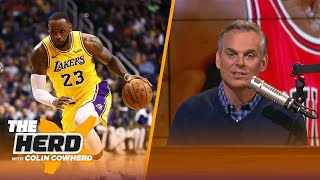 Colin Cowherd: LeBron will never be better than MJ at 40, needs to take a year off | NBA | THE HERD