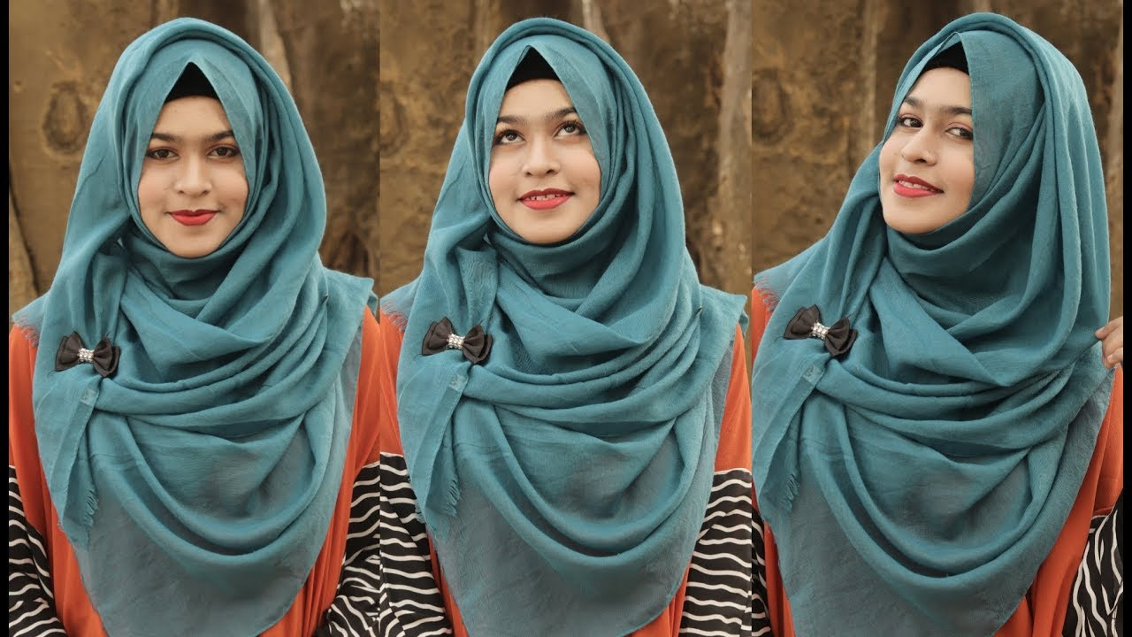 One pin Beginners Full Coverage Hijab Style 2019