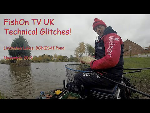 FishOn TV UK.  Lindolme Lakes, BONSAI Pond.  Live Match.  November 2019