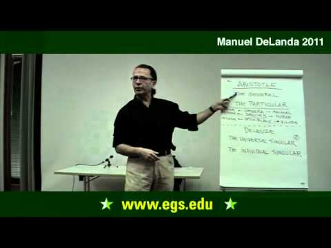 Manuel De Landa. Metaphysics As Ontology: Aristotle and Deleuze