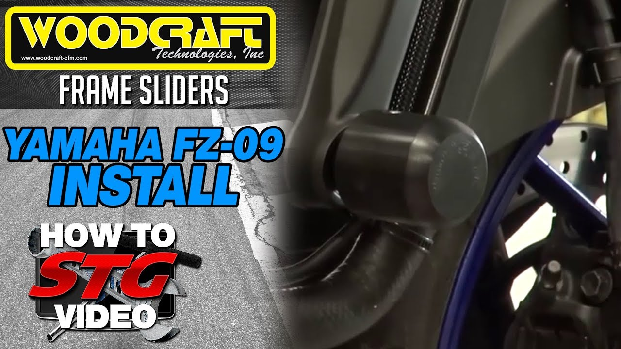 how to install woodcraft frame sliders on yamaha fz 09 by sportbiketrackgearcom youtube
