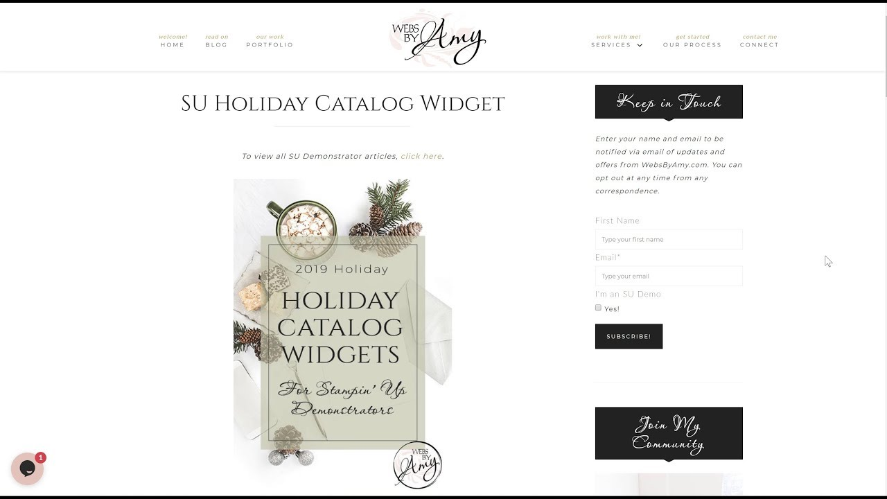 SU Holiday Catalog Widget | Amy Celona, WebsByAmy - Brand