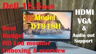Unboxing Dell D1918H 18 5 Inch Best LED LCD Monitor with HDMI VGA amp Audio out