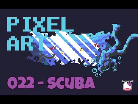 [Let's Pixel] #Pixelart Daily 022/365 - Scuba Diving