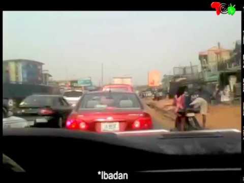 LAGOS-IBADAN EXPRESSWAY - DRIVER'S VIEW OF PROGRESS ON WORK!