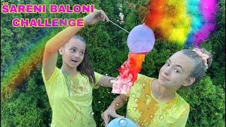 NADJA VS ELENA! SARENI BALONI CHALLENGE! *UNISTILE MAJICE*