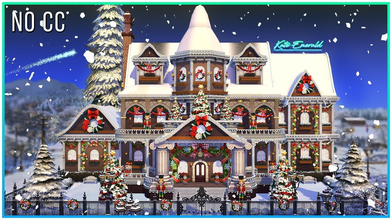Sims 4 Christmas Update 2020 Sims 4 Speed Build   Christmas Dream Mansion   Kate Emerald   YouTube