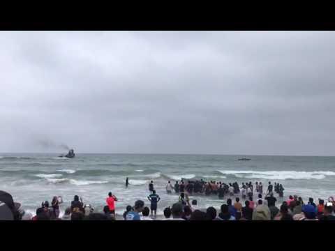Whale saved by the ecuadorean navy