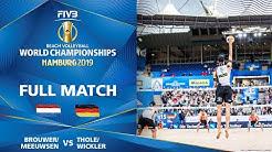 Brouwer/Meeuwsen vs. Thole/Wickler - Full Match | Beach Volleyball World Champs Hamburg 2019