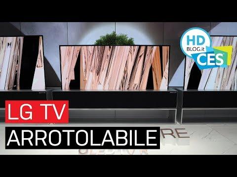 La TV OLED ARROTOLABILE di LG 猫 realt脿 | CES 2019