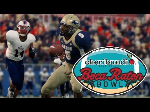 College Football Boca Raton Bowl - Florida Atlantic vs Akron Zips - College Bowl Game Sim (NCAA 14)