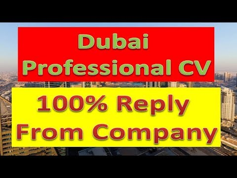 Create Professional CV 2019 for Dubai Jobs | Download CV | Free Jobs in Dubai