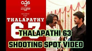 Thalapathy 63 | Shooting Spot Video Exclusive | Atlee