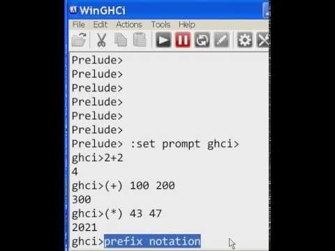 Haskell Infix and Prefix Notation, & Prompt Changing - YouTube