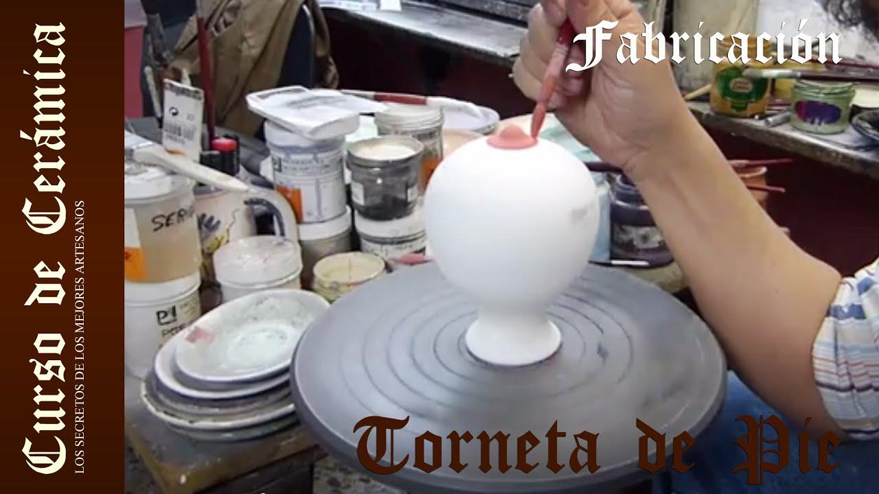 Curso de cer mica pintar piezas de cer mica con torneta for Ceramicas para piezas