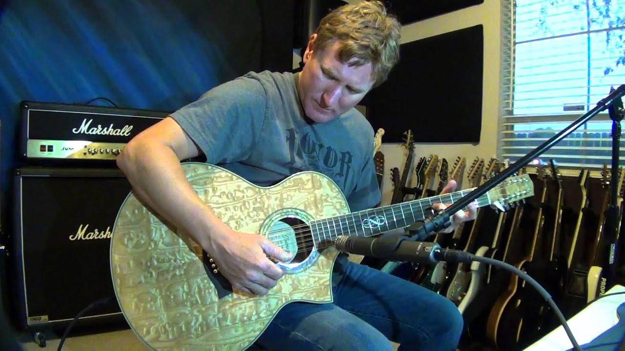 Glenn Delaune Demo Ibanez Ew20as 12 String Exotic Wood Acoustic