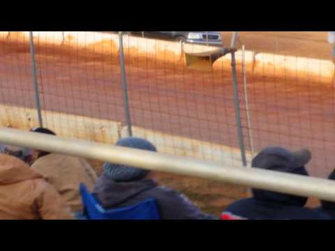 The result of flipping at Cherokee speedway