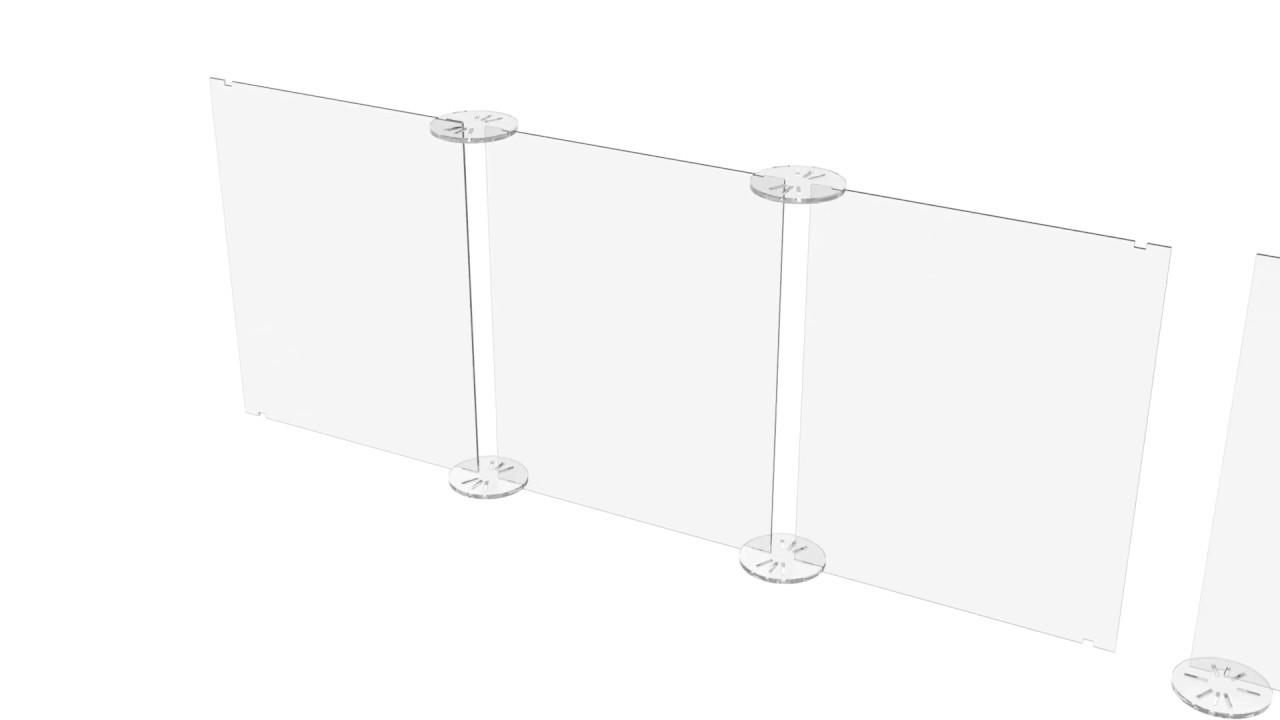 Divisori In Plexiglass Per Esterni divisorio para-fiato modulare in plexiglass | iwird