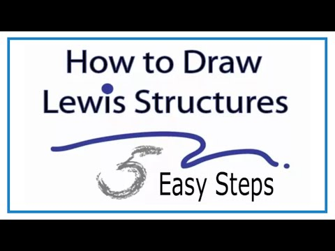 How To Draw Lewis Structures Five Easy Steps Youtube