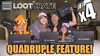 LOOT CRATE Super Family Unboxing! 4 Times the Surprises!