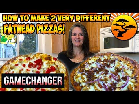 keto-fat-head-bbq-chicken-&-garlic-parm-chicken-pizzas-~-ketolicious!