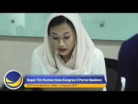 Rapat Tim Konten Data Kongres II Partai NasDem