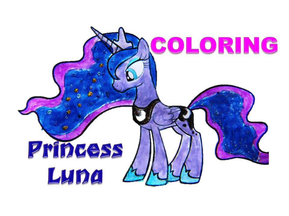 my little pony princess luna  coloring  youtube