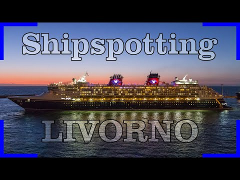 Shipspotting in Livorno | Cruise Ships | Ferrys | Containerships | Tanker | Bulker | 4K Video
