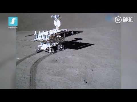 Yutu-2 rolls across the Moon