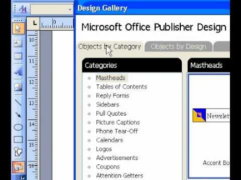 Microsoft Office Publisher 2003 Create a logo by using the design