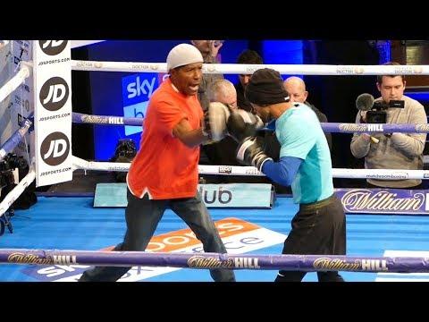 Yonfrez Parejo PUBLIC WORKOUT vs Carlos Molina | Joshua vs Parker Undercard