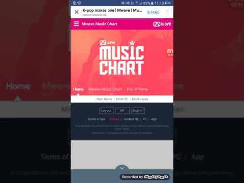 How to vote for BTS in Mwave music chart!!