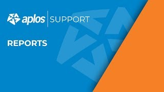 Generating Reports   Aplos Support