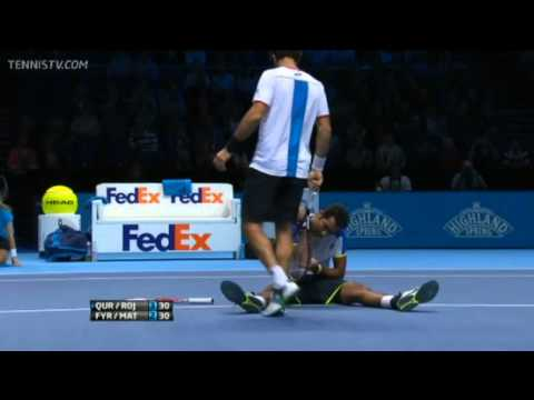 Qureshi & Rojer Vs Fyrstenberg & Matkowshi Barclays ATP World Tour Finals 2013 Round-Robin 1st Set
