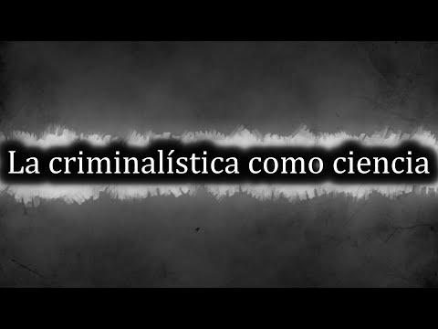 La criminalística como ciencia
