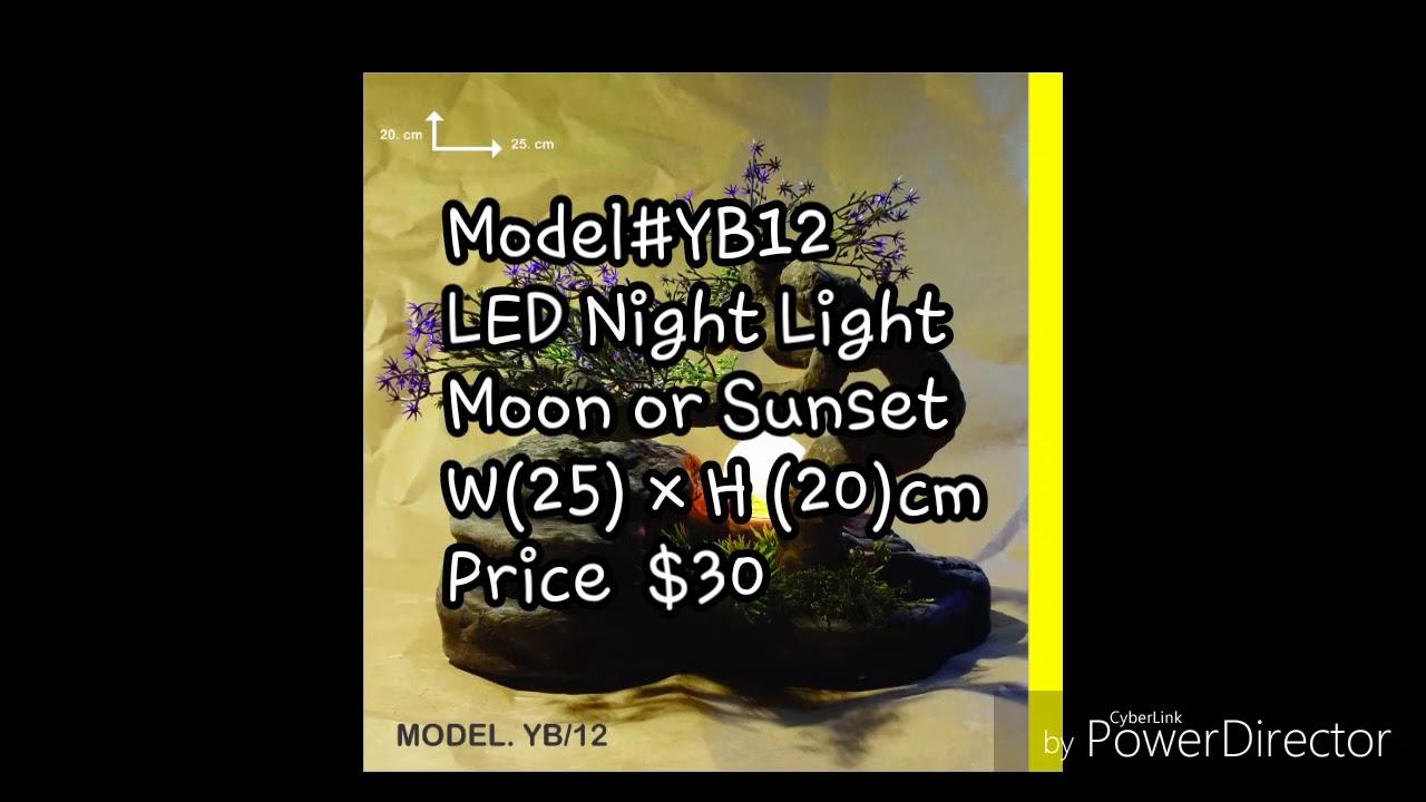 Charmant Table Fountain U0026 LED Night Light Sunset.Model#YB12