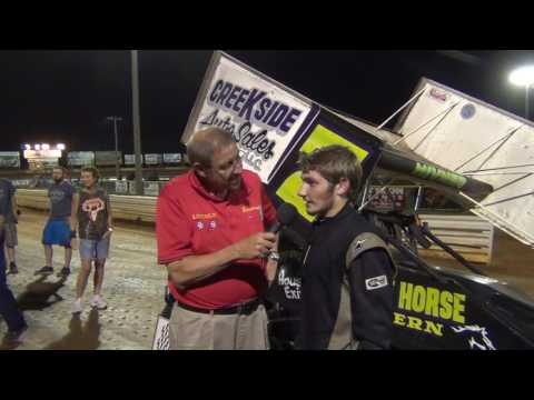 Lincoln Speedway 358 Sprint Car Victory Lane 7-09-16