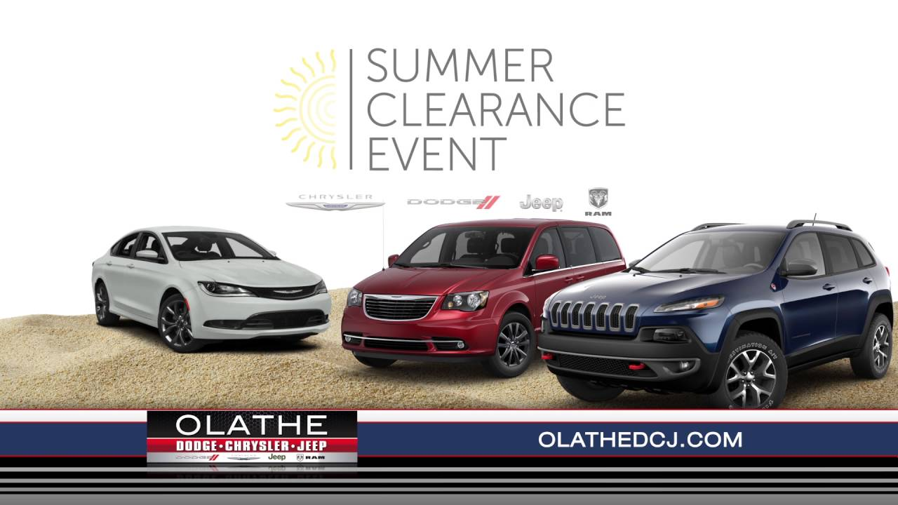 olathe dodge chrysler jeep ram summer clearance event dealer of the year 7 16 youtube. Black Bedroom Furniture Sets. Home Design Ideas