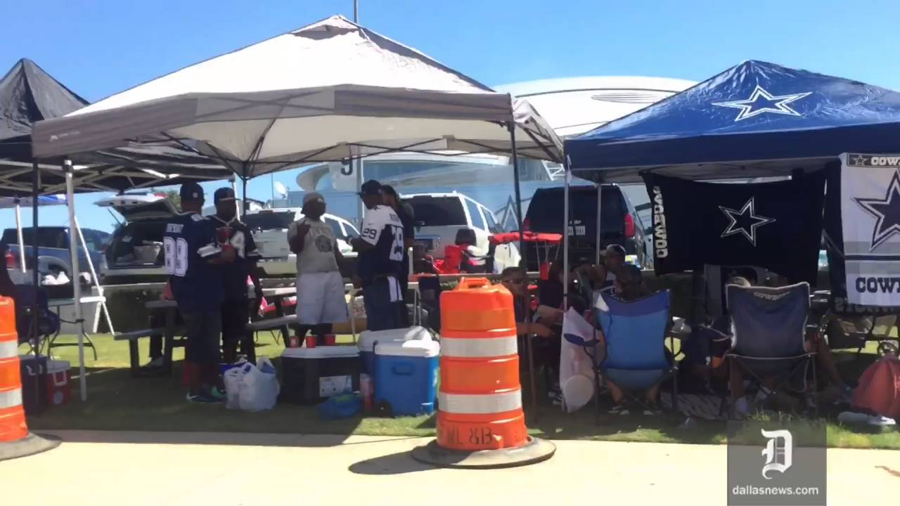 Dallas Cowboys fans tailgating on Opening Day & Dallas Cowboys fans tailgating on Opening Day - YouTube