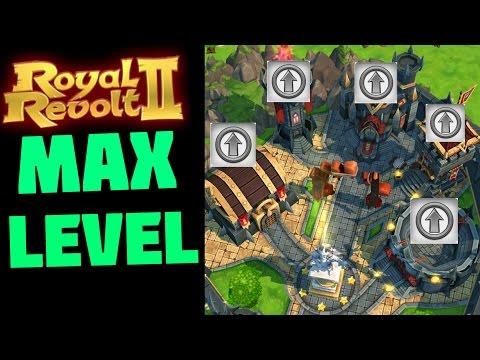 ROYAL REVOLT 2 - MAX LEVEL OF EVERYTHING! (my Kingdom)