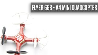 Мини квадрокоптер FLYER 668 A4 Mini Quadcopter с GearBest